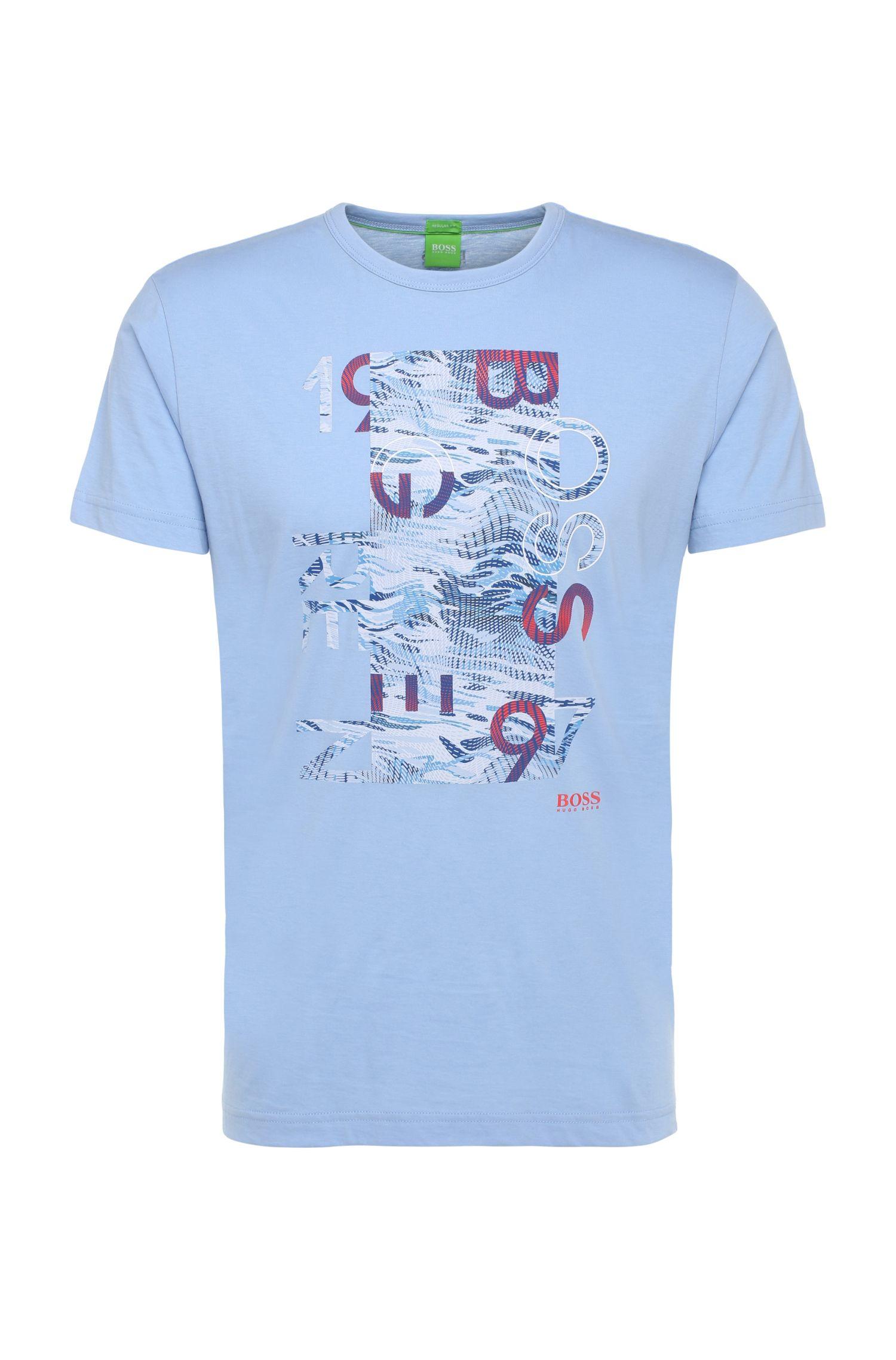 Regular-fit shirt van katoen met print: 'Tee 4'