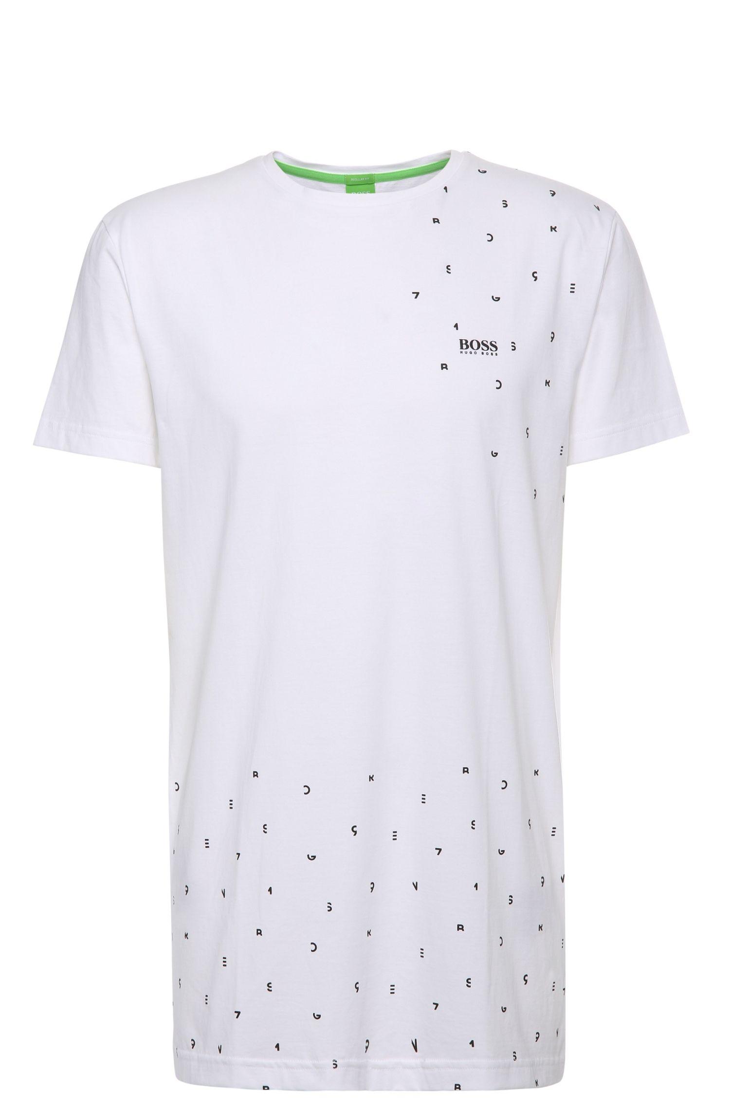 Regular-Fit Baumwollshirt mit Print: ´Teelong`