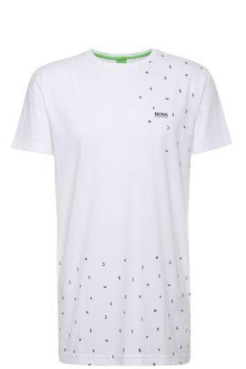 Regular-Fit Baumwollshirt mit Print: ´Teelong`, Weiß