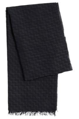 Chal de viscosa y lana virgen con estampado en zigzag: 'Men-Z 502', Fantasía