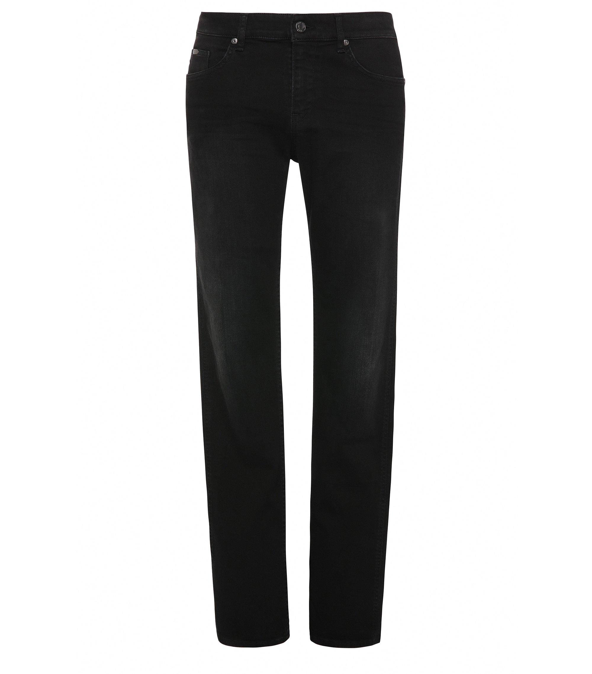 Jeans Slim Fit en coton stretch : « C-DELAWARE1 », Noir