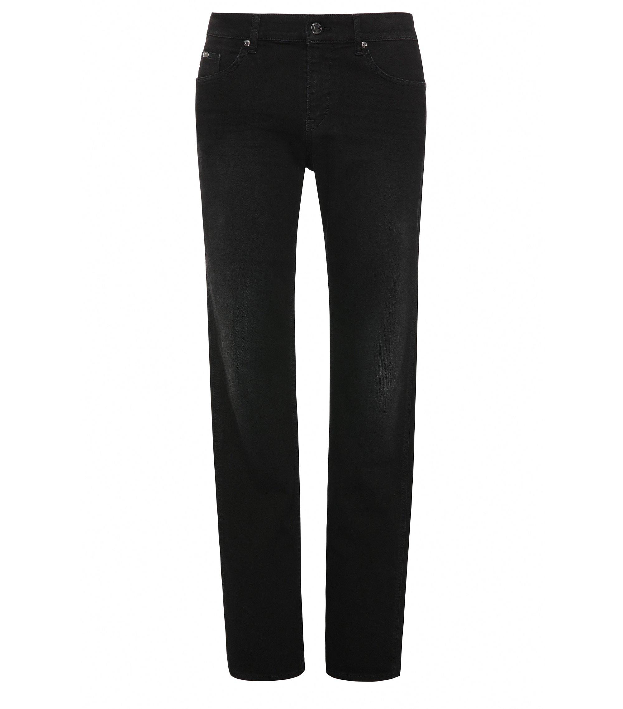Slim-fit jeans van stretchkatoen: 'C-DELAWARE1', Zwart