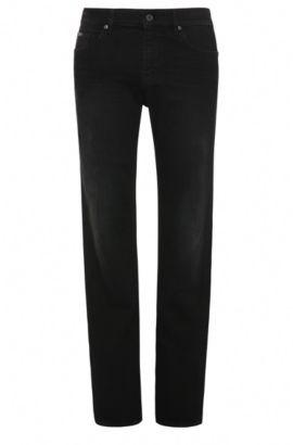 Slim-fit jeans in stretch cotton: 'C-DELAWARE1', Black