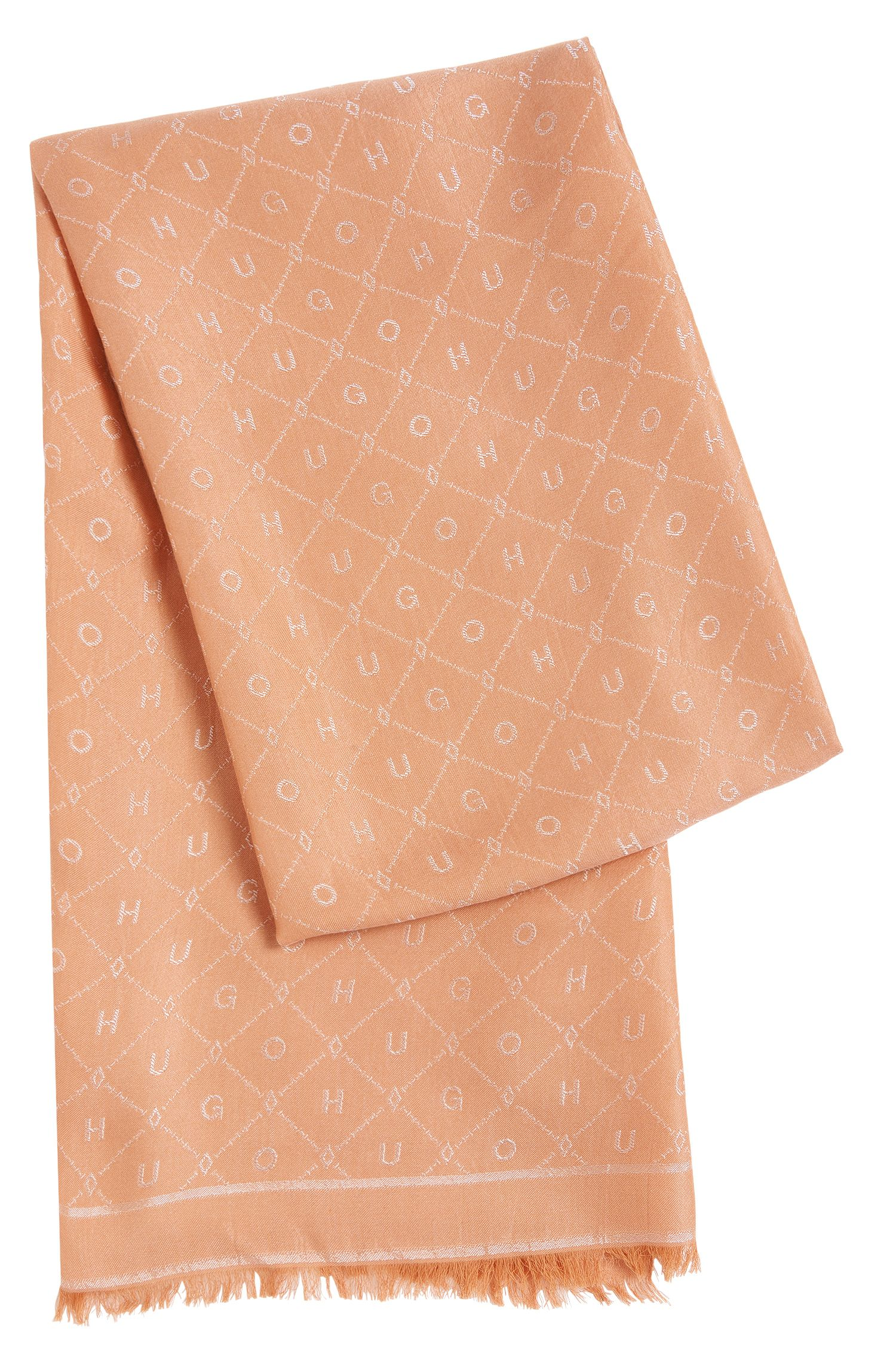 Scarf in cotton blend with all-over pattern: 'Women-Z 529'