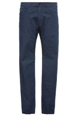 Tapered-fit jeans van elastische katoen: 'Danyel', Donkerblauw