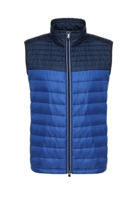 Gilet slim fit in materiali misti imbottiti: 'Veon 1', Celeste