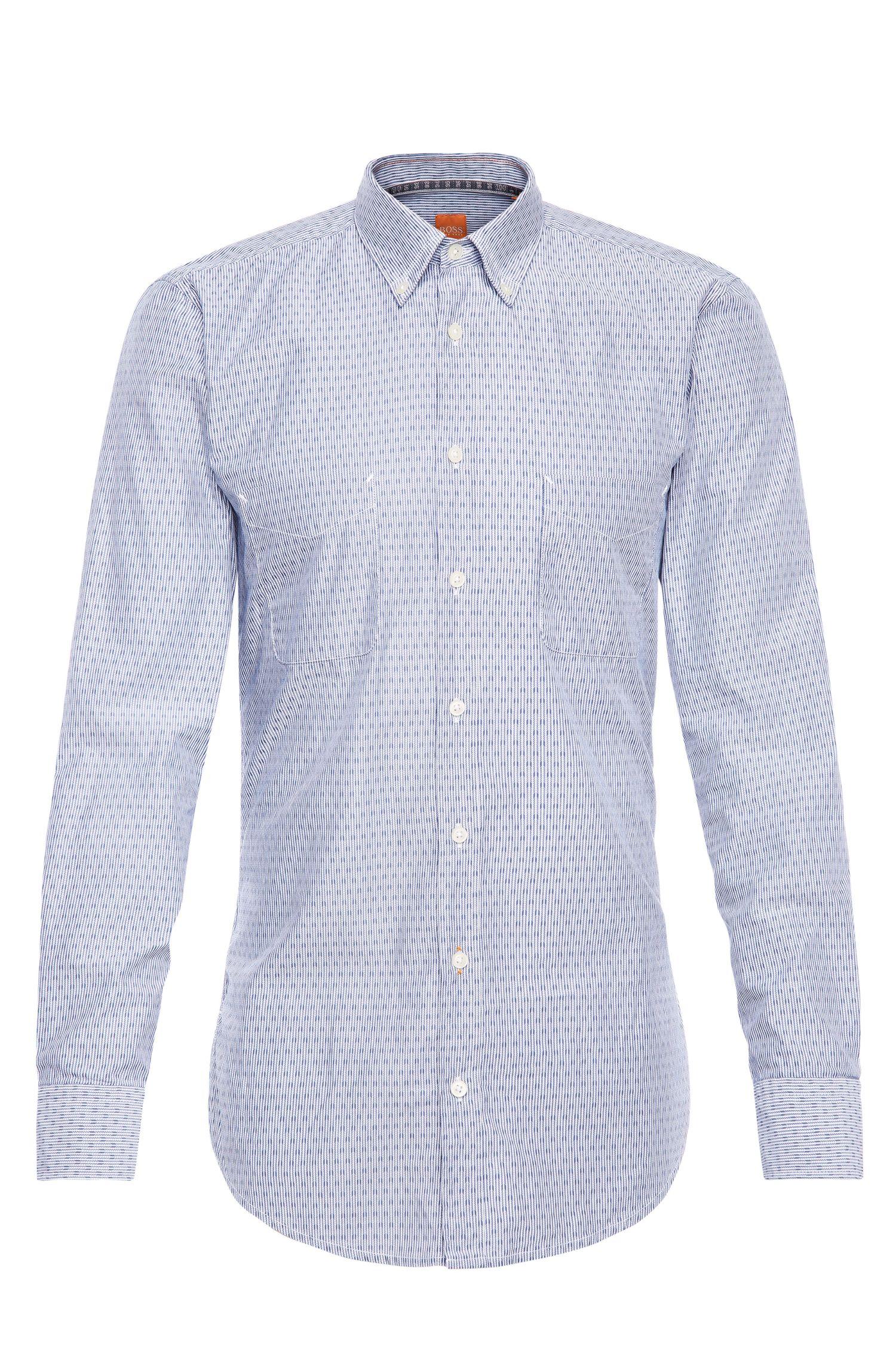 Extralanges Regular-Fit Hemd aus Baumwolle: ´ElongE1`