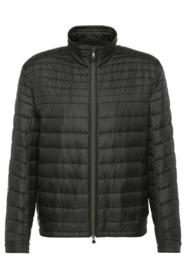 Regular-fit quilted jacket in a fabric blend: 'Jeon 1', Black