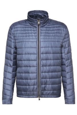 Regular-fit quilted jacket in a fabric blend: 'Jeon 1', Open Blue