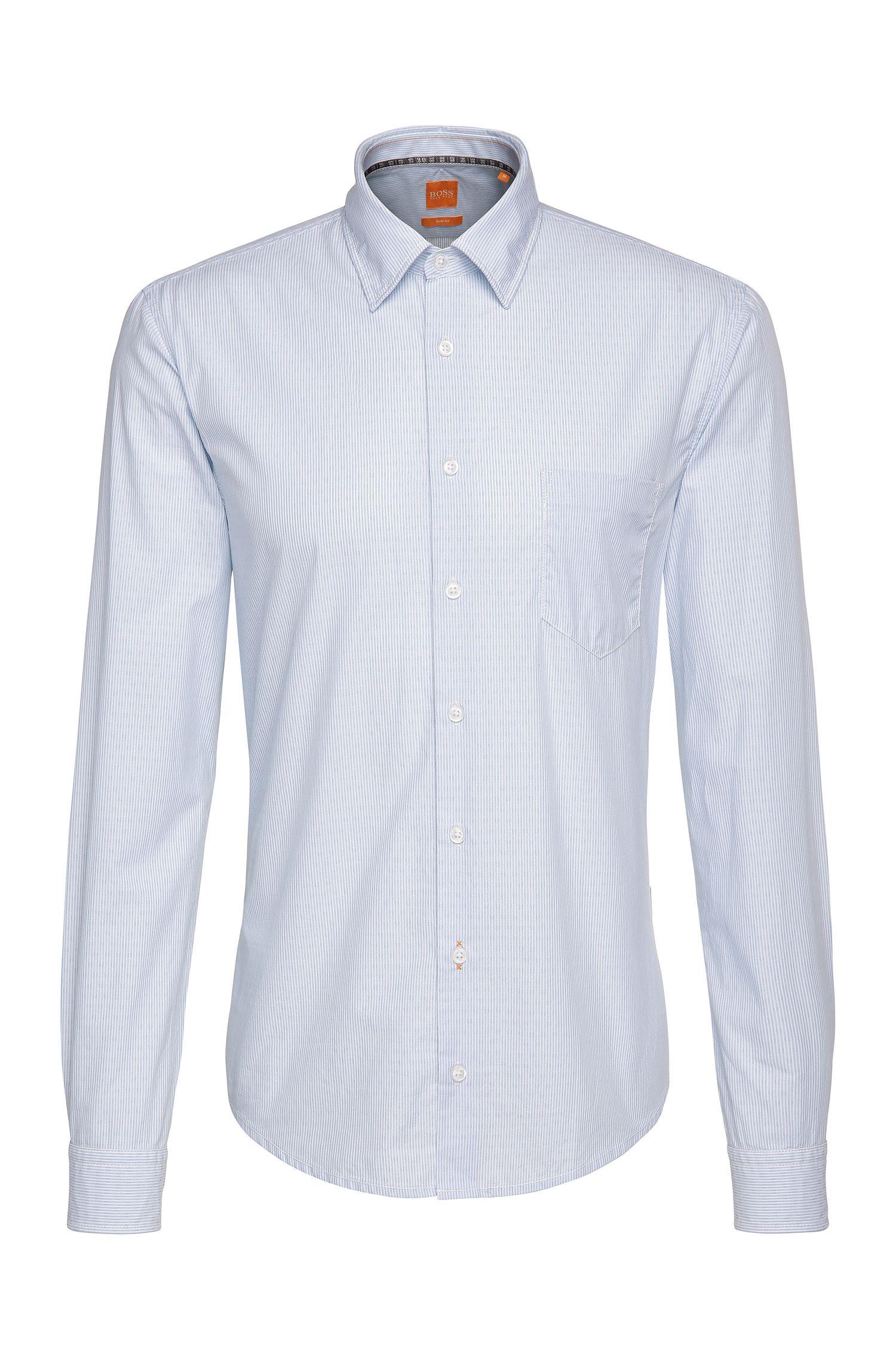 Gestreiftes Slim-Fit Hemd aus Baumwolle: ´EnameE_1`