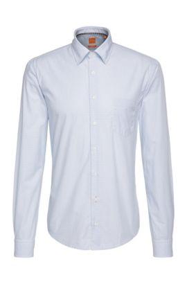 Chemise Slim Fit à rayures, en coton: «EnameE_1», Bleu vif