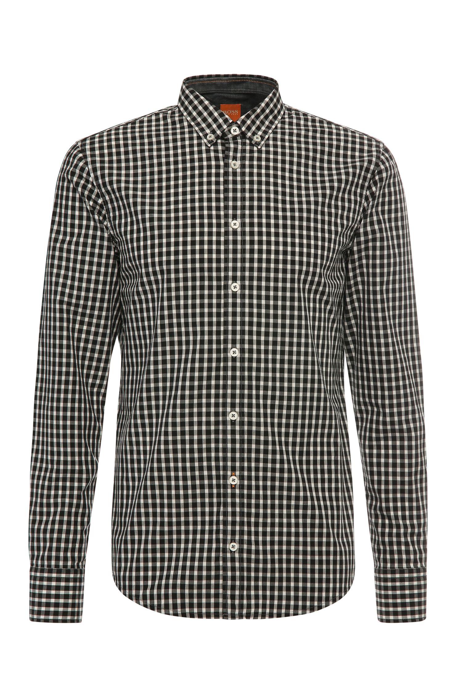 Slim-Fit Hemd aus Baumwolle mit Karos: ´EdipoE`