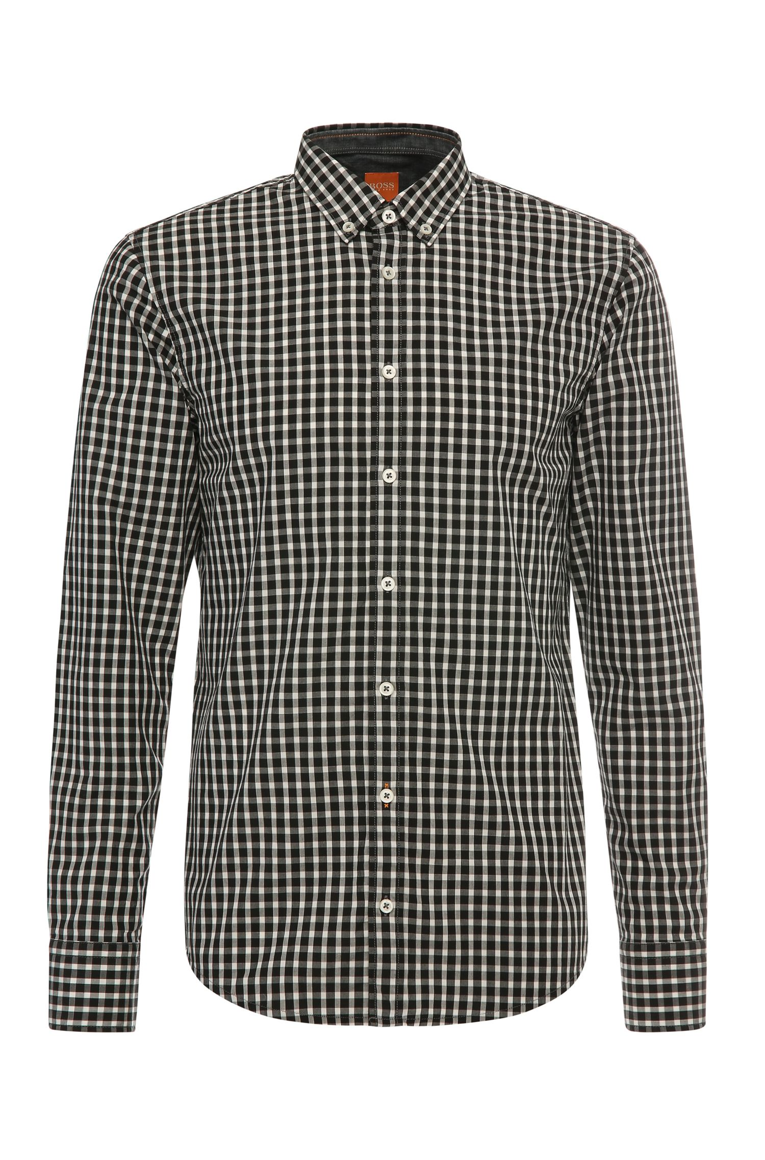 Slim-fit shirt in cotton with checks: 'EdipoE'