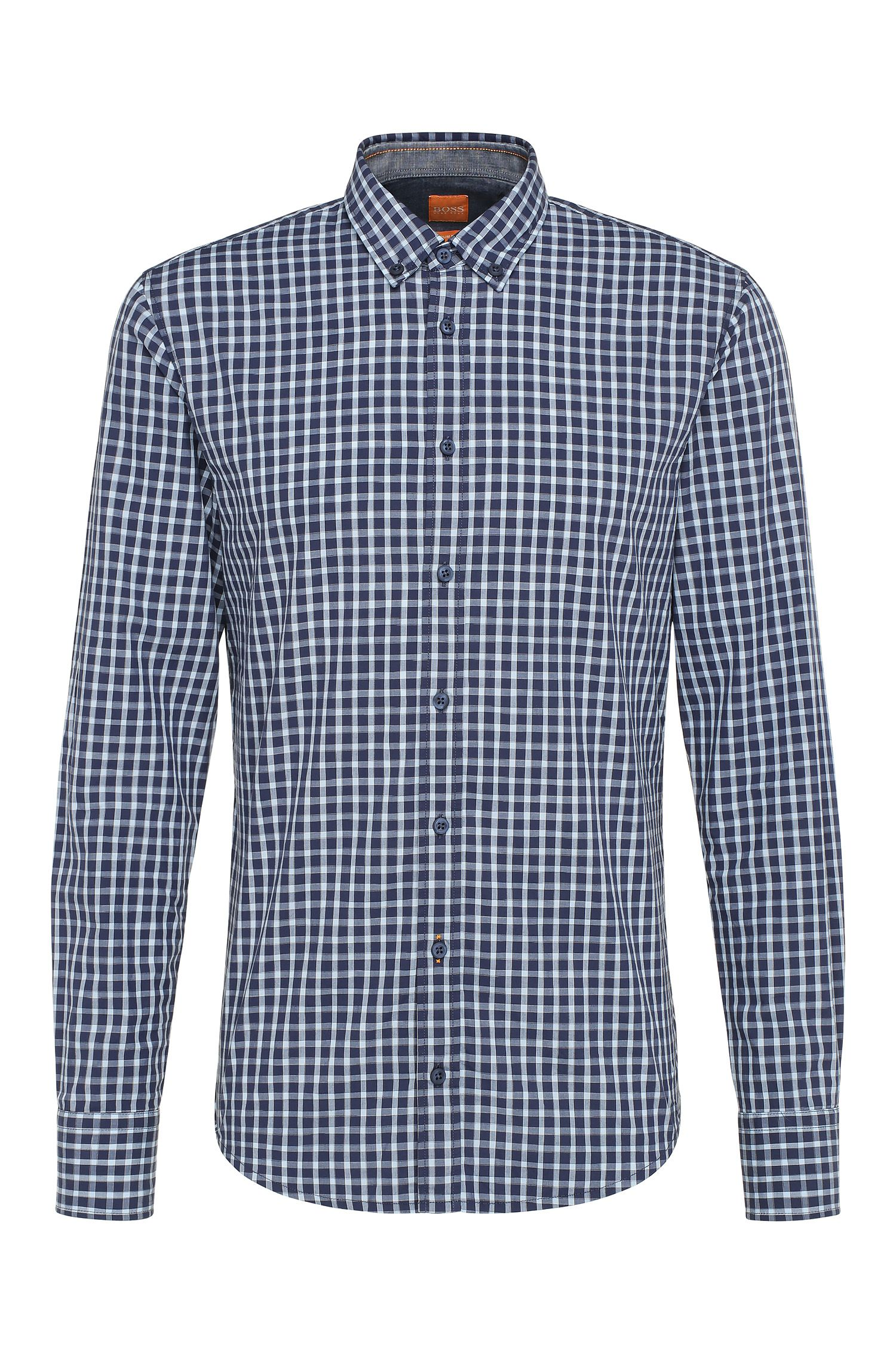 Camicia slim fit in cotone a quadri: 'EdipoE'