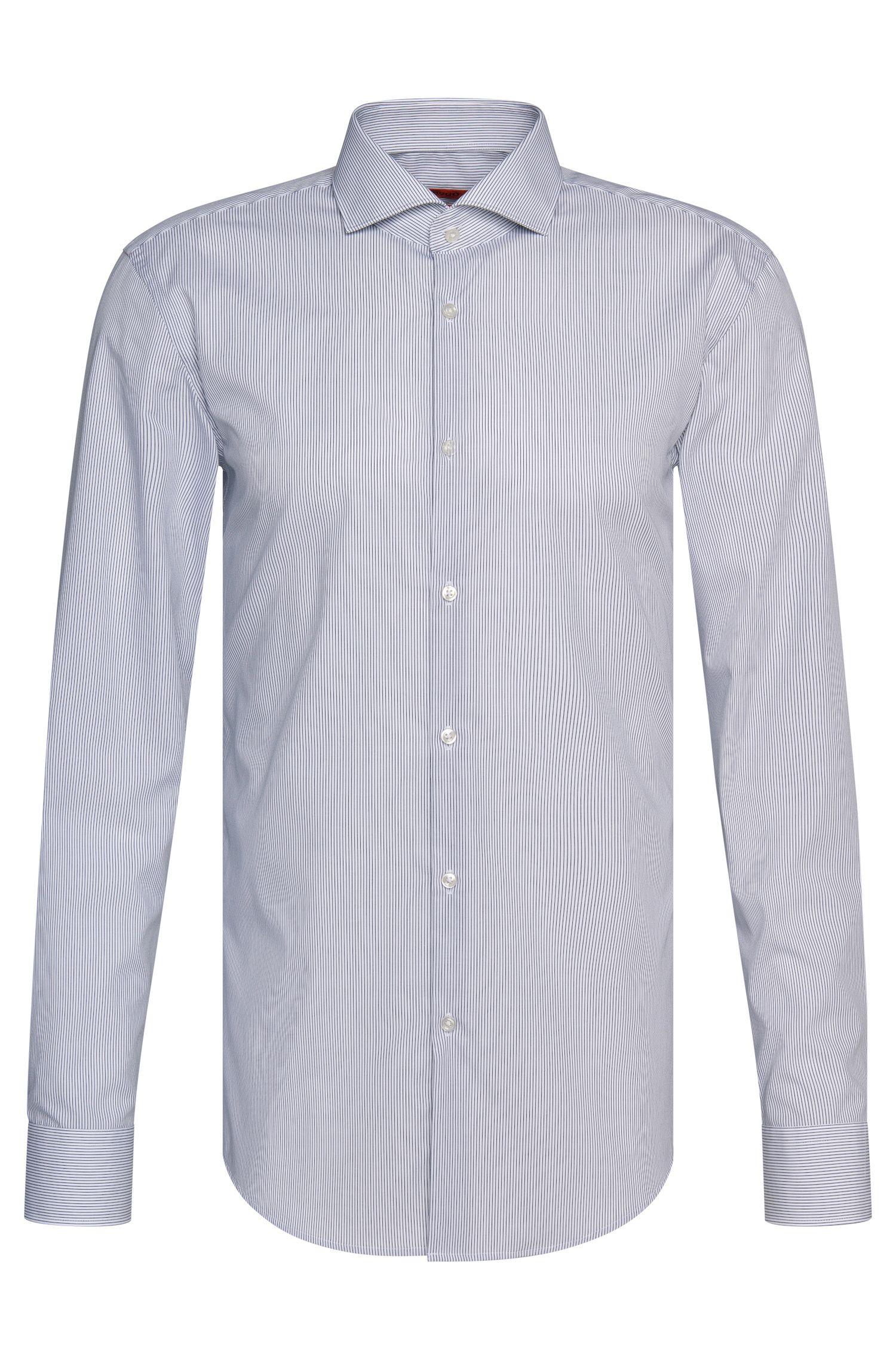 Chemise Slim Fit à rayures fines en coton facile à repasser: «C-Jason»