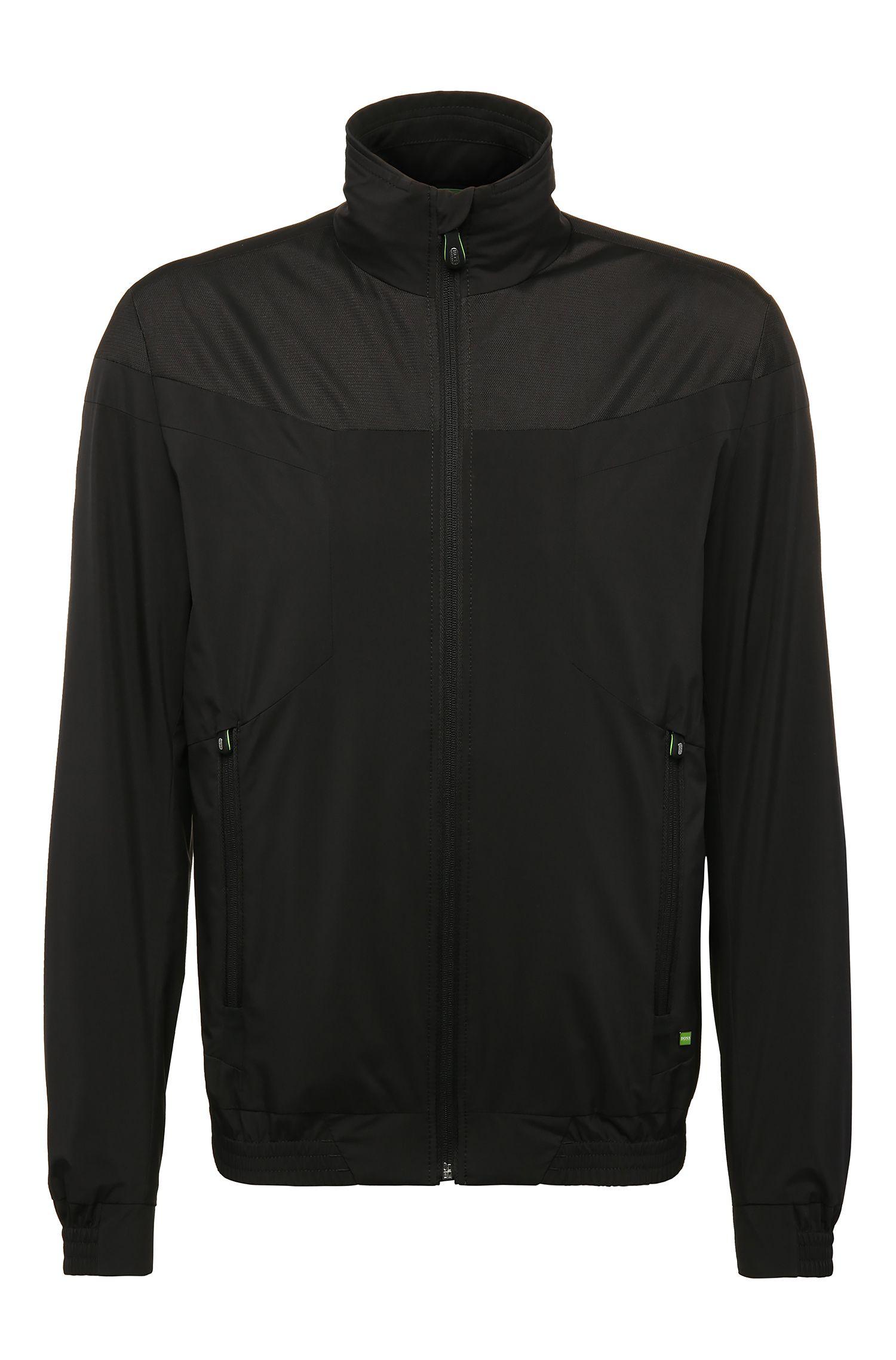 Regular-Fit Jacke aus Material-Mix: ´Jalomo 2`