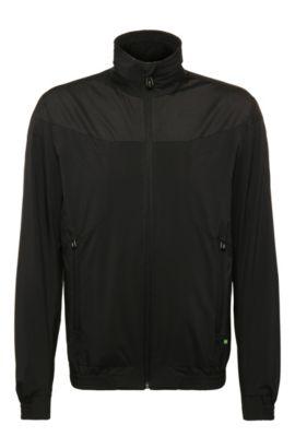 Regular-Fit Jacke aus Material-Mix: ´Jalomo 2`, Schwarz