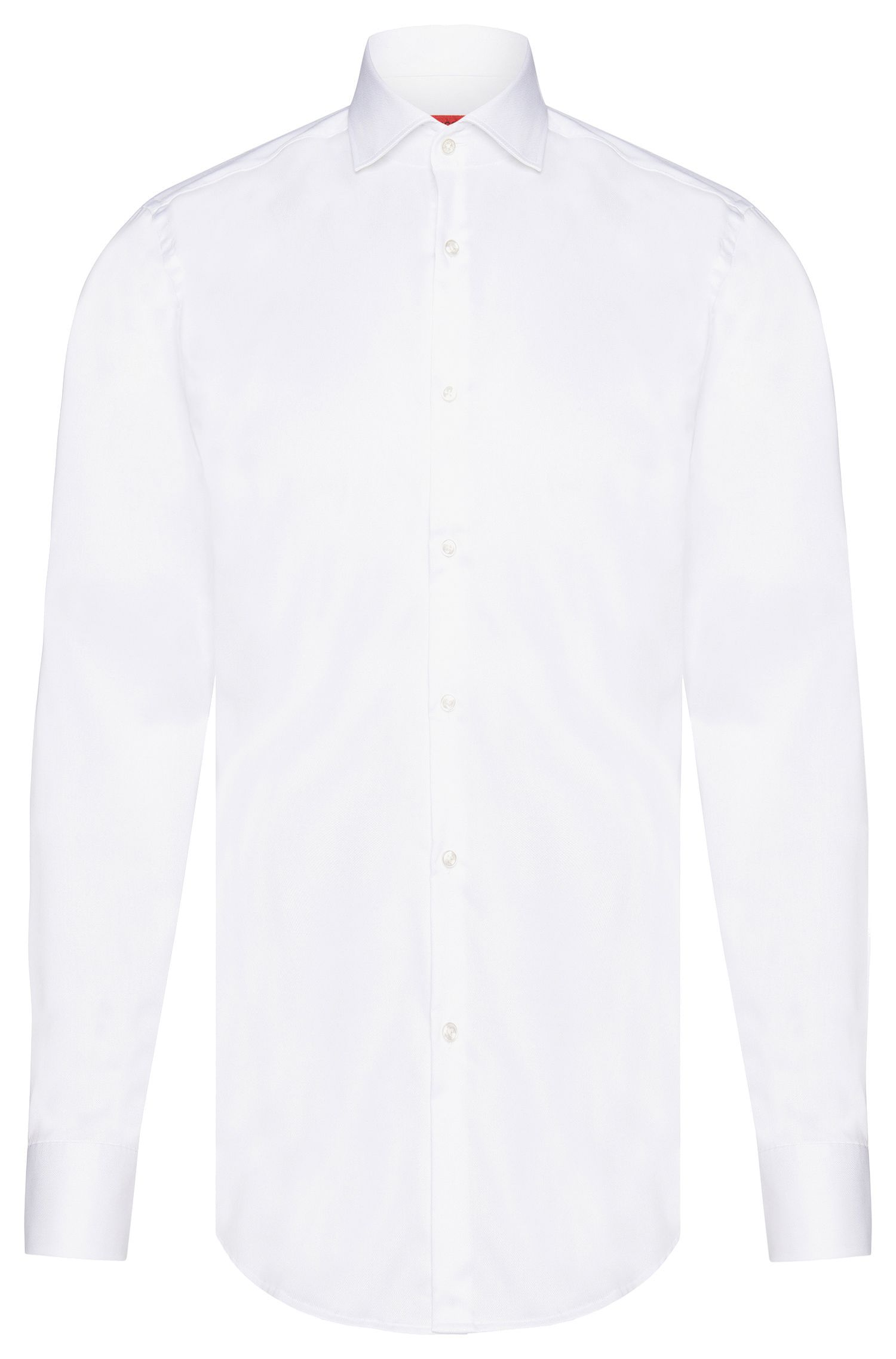 Chemise Slim Fit en coton finement structuré : « C-Jason »