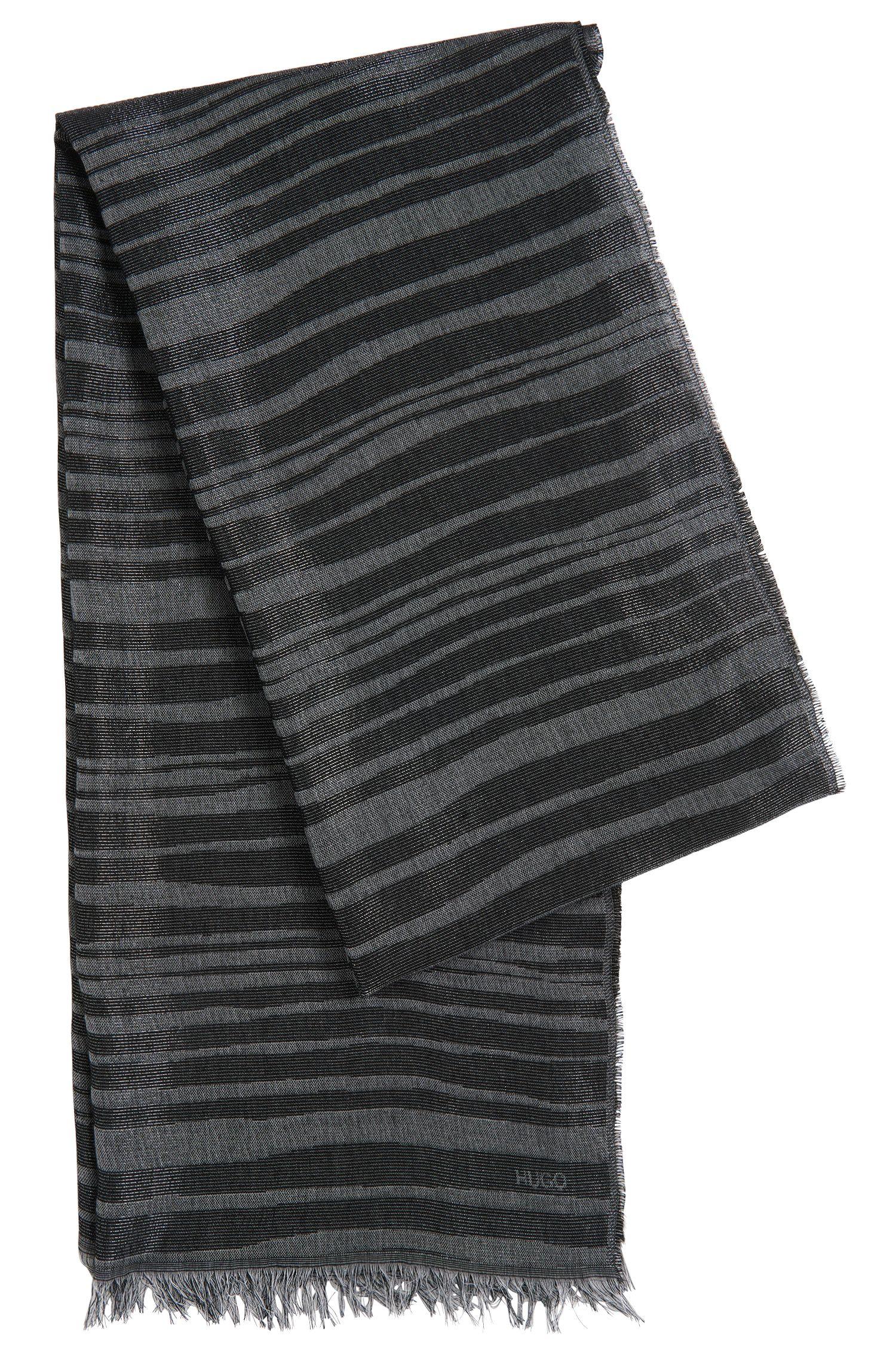 Écharpe à rayures en viscose mélangée, avec du coton: «Women-Z 535»
