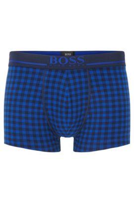 Boxershort van singlejersey met tailleband met logo, Lichtblauw