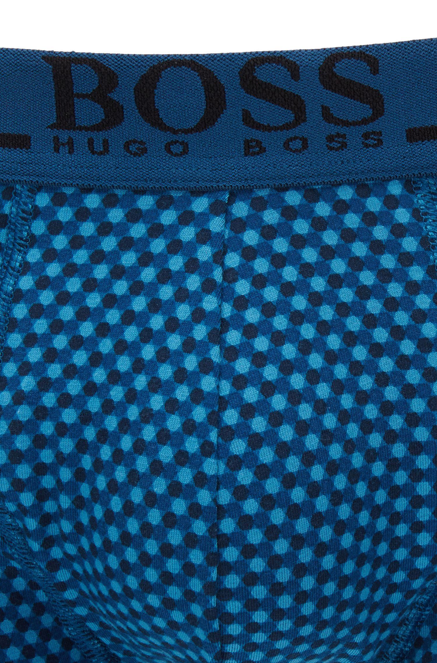 Boxershorts aus bedruckter Stretch-Baumwolle, Hellblau