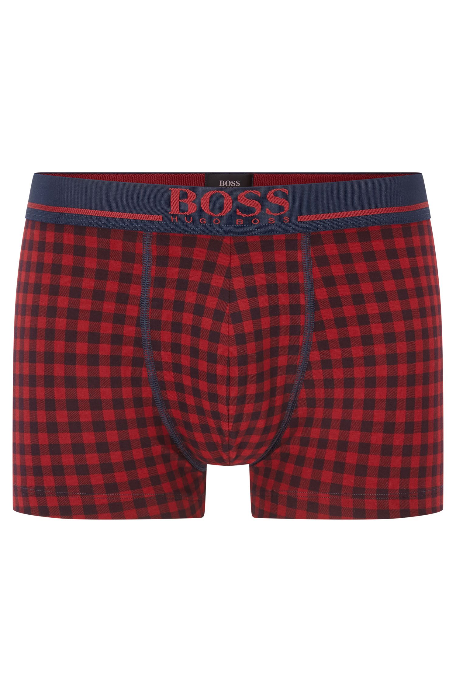 Single-jersey trunks with logo waistband