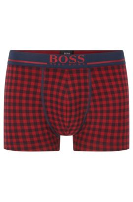 Single-jersey trunks with logo waistband, Open Red
