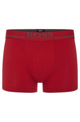 Boxer Regular Rise en coton stretch avec logo, Rouge