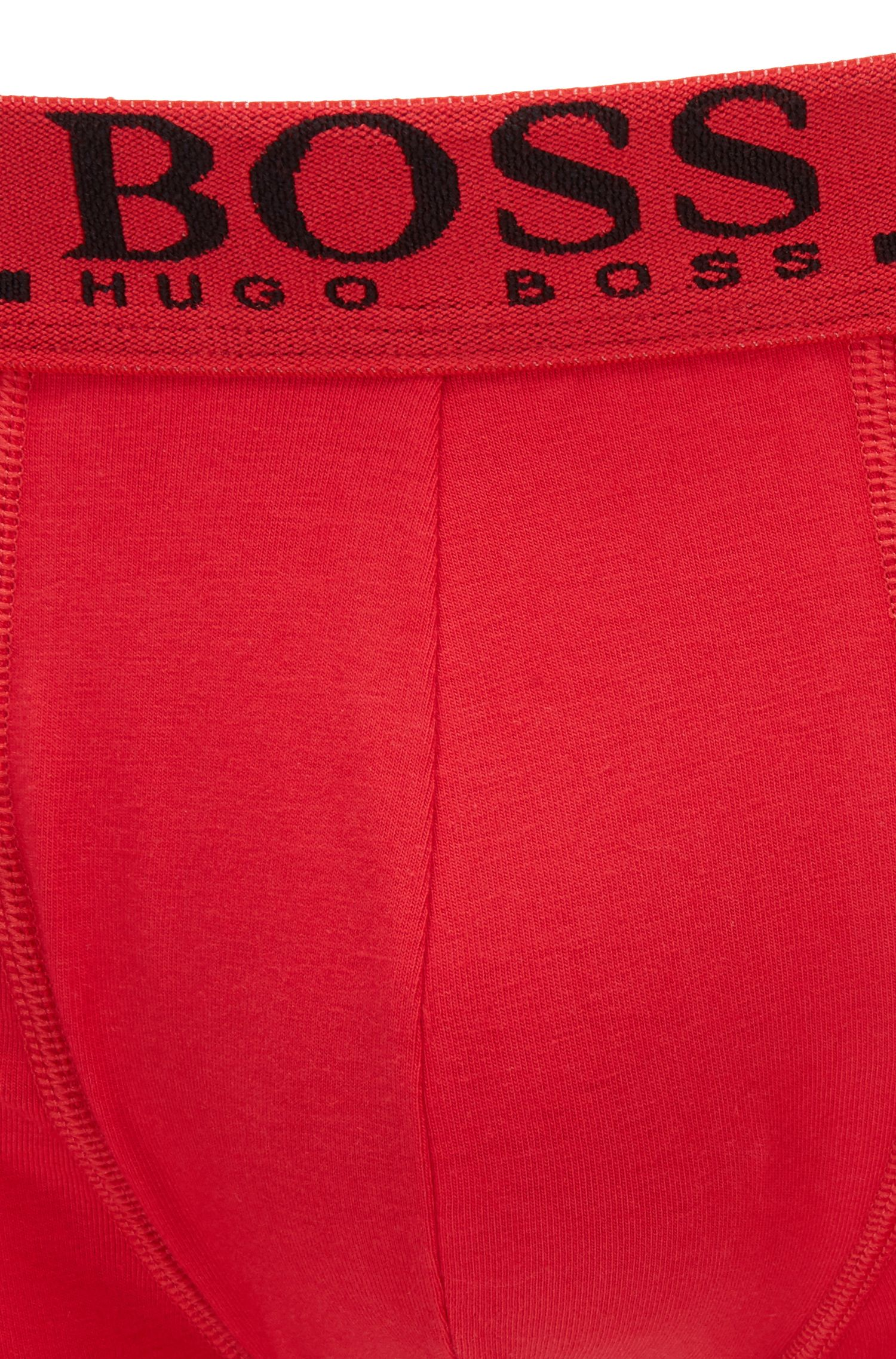 Boxer Regular Rise en coton stretch avec logo