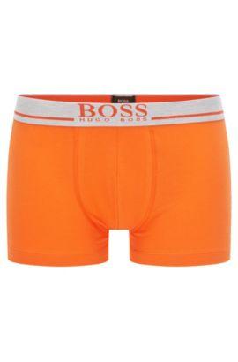 Boxershorts aus Stretch-Baumwolle mit normaler Bundhöhe und Logo, Orange
