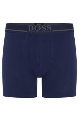 Boxer en jersey simple stretch, Bleu foncé