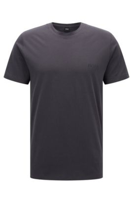 Camiseta relaxed fit en algodón suave, Gris oscuro