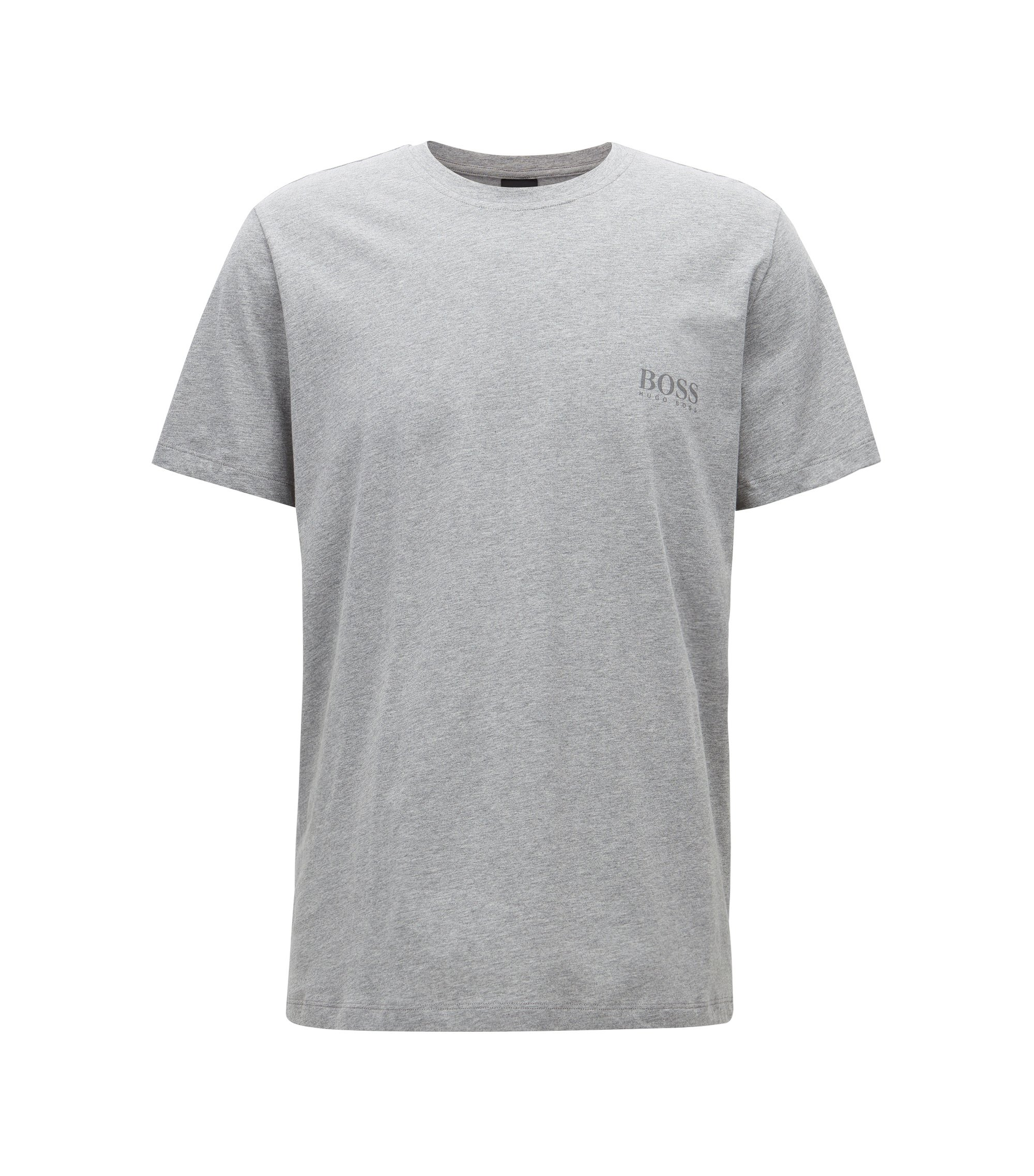 T-shirt relaxed fit in morbido cotone, Grigio