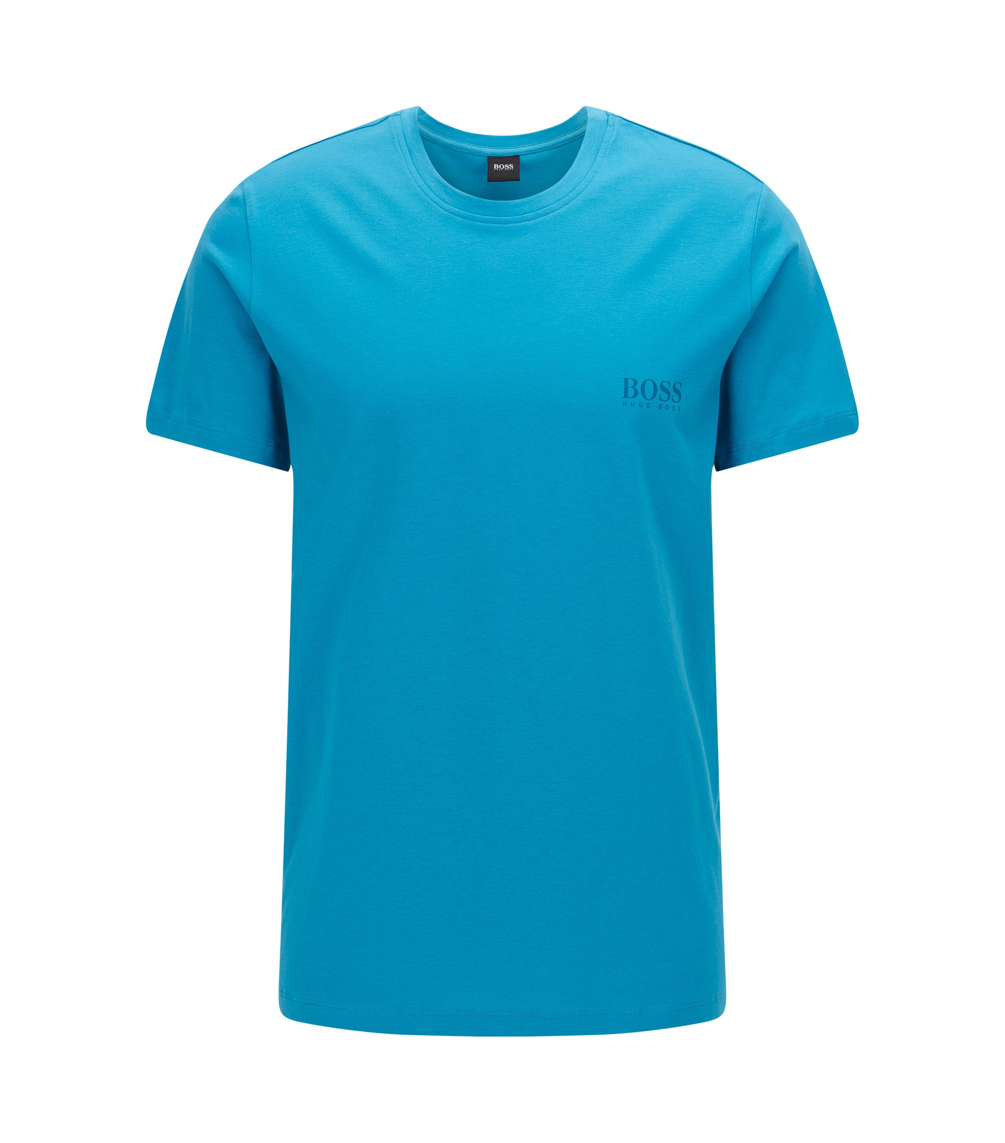 Relaxed-fit T-shirt in soft cotton, Turquoise