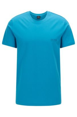 Relaxed-Fit T-Shirt aus Baumwolle, Türkis