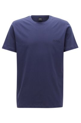 T-shirt relaxed fit in morbido cotone, Viola scuro