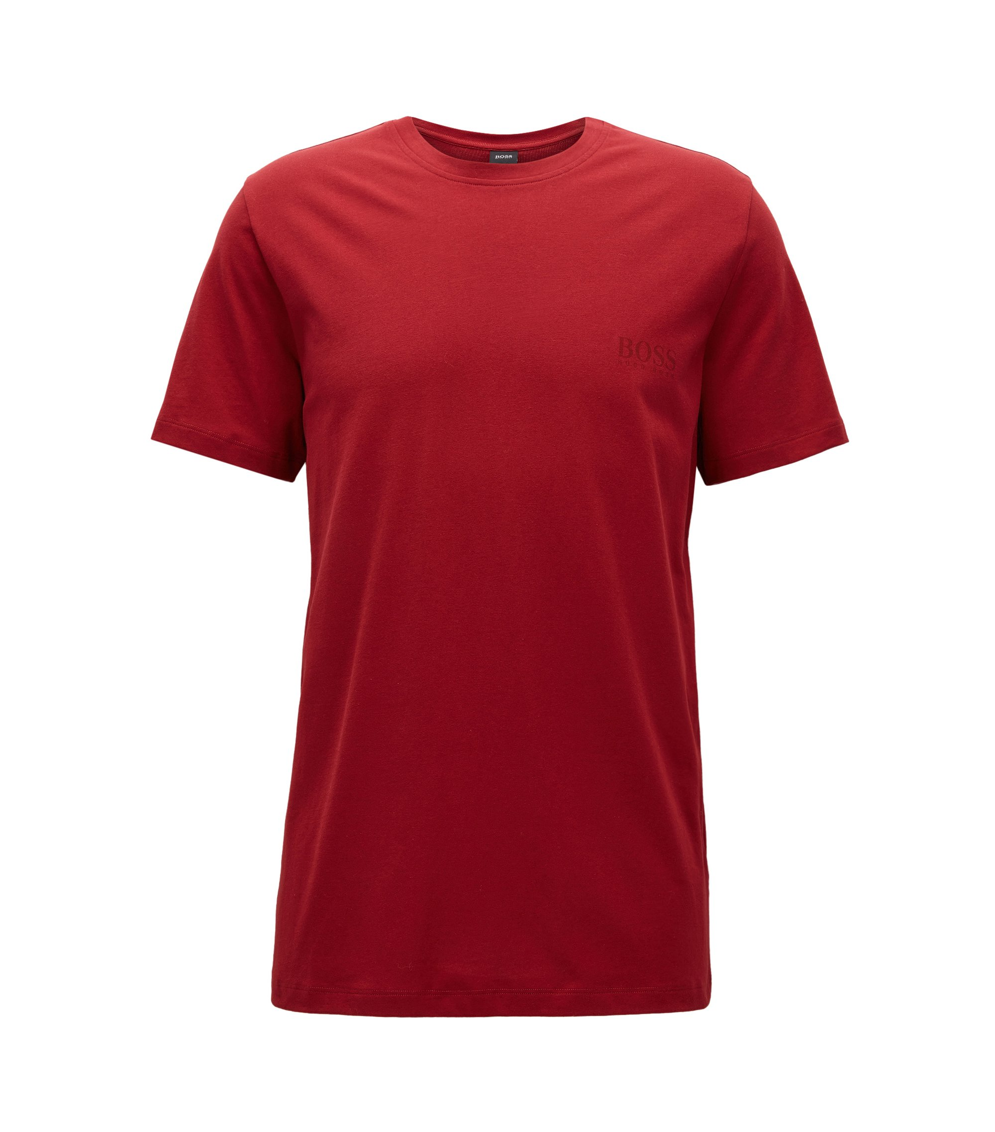 T-shirt Relaxed Fit en coton doux, Rouge sombre