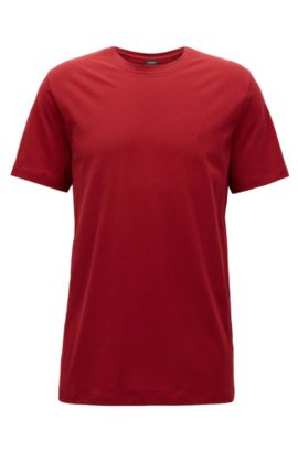 T-shirt relaxed fit in morbido cotone, Rosso scuro