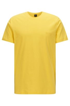 Relaxed-fit T-shirt in soft cotton, Yellow
