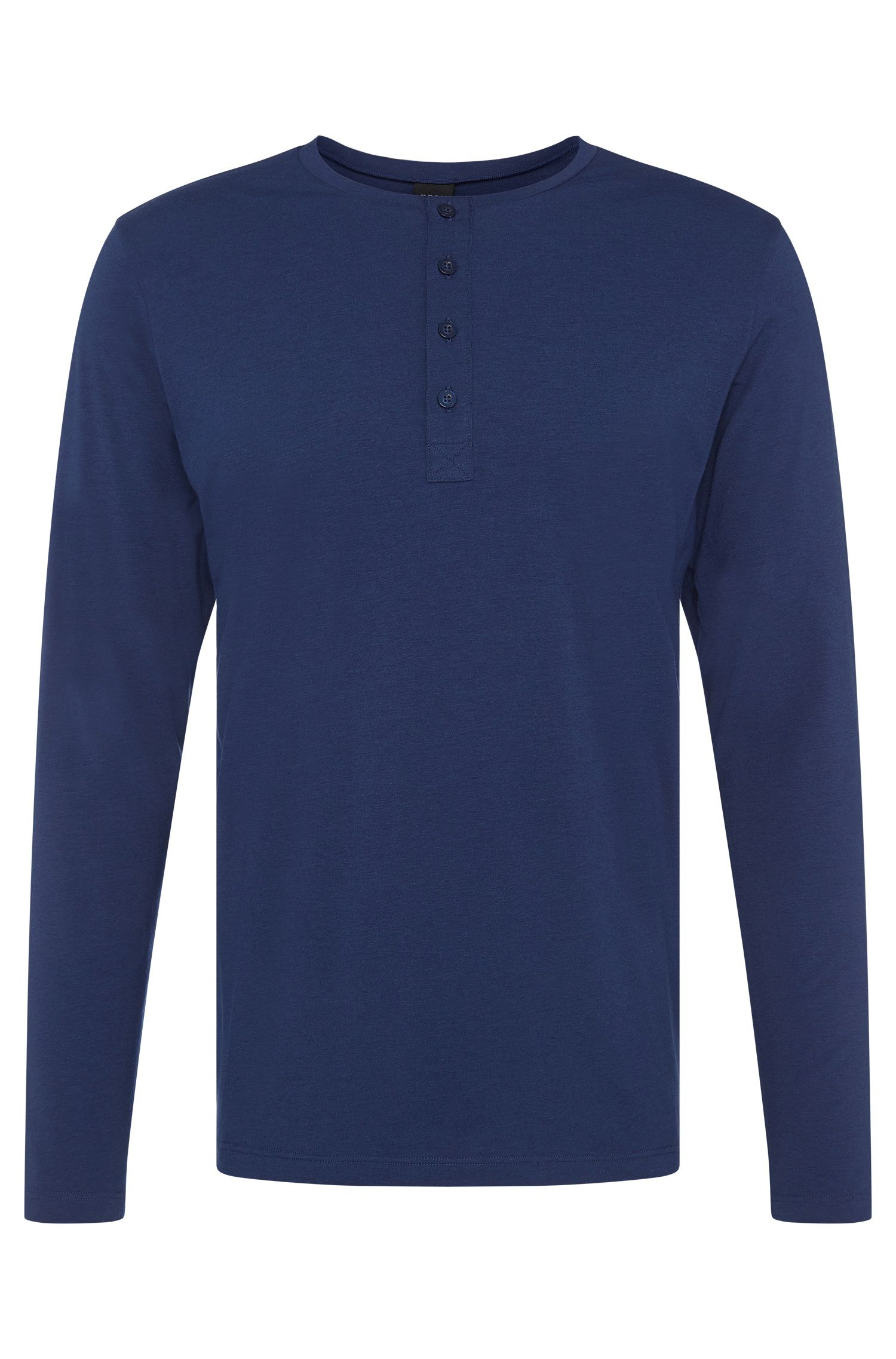 Long-sleeved shirt in stretchy cotton blend with modal: 'LS-Shirt BP Balance'