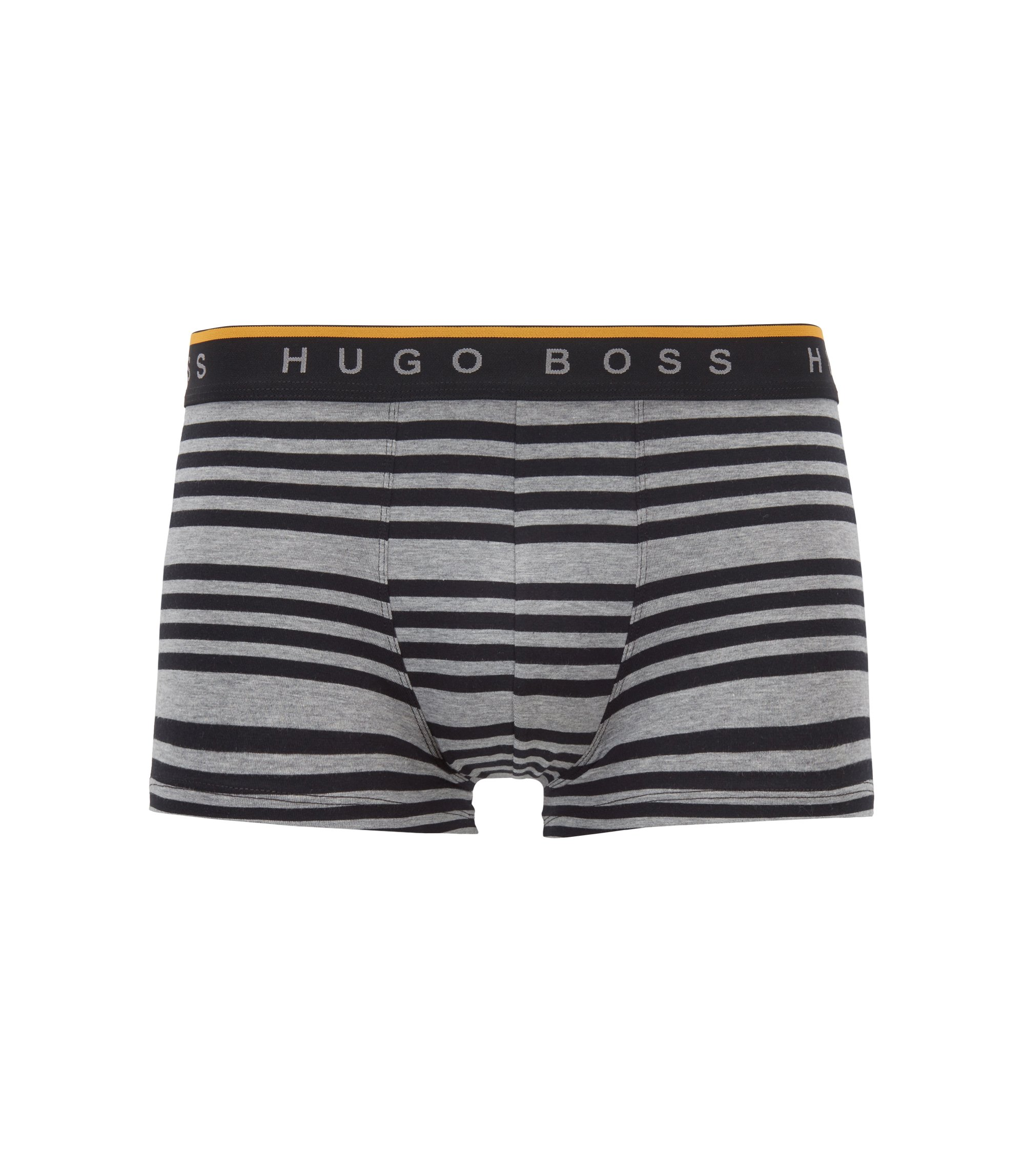 Boxer long Regular Rise en jersey de coton stretch, Gris