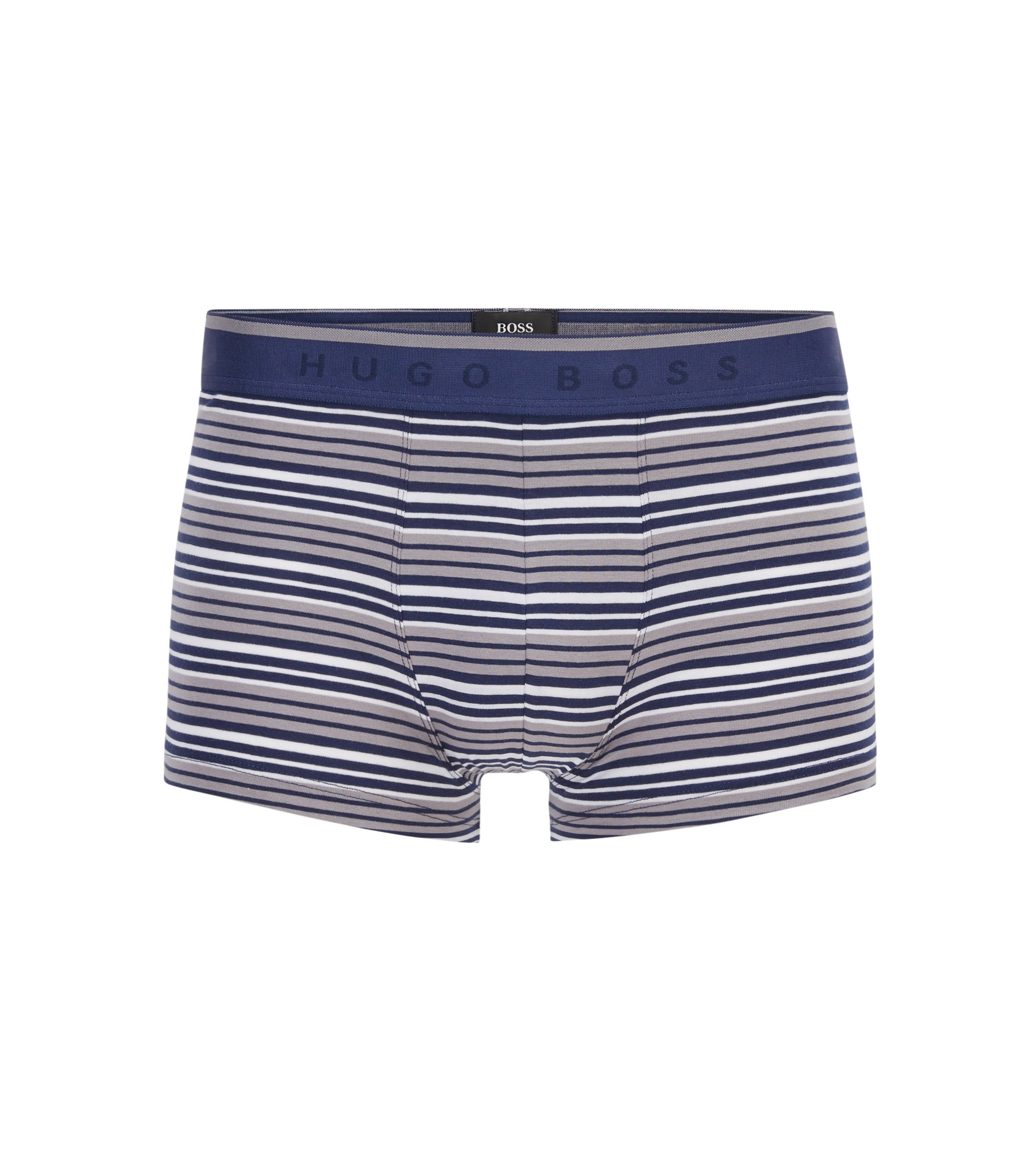 Regular-rise boxer briefs in stretch cotton jersey, Blue