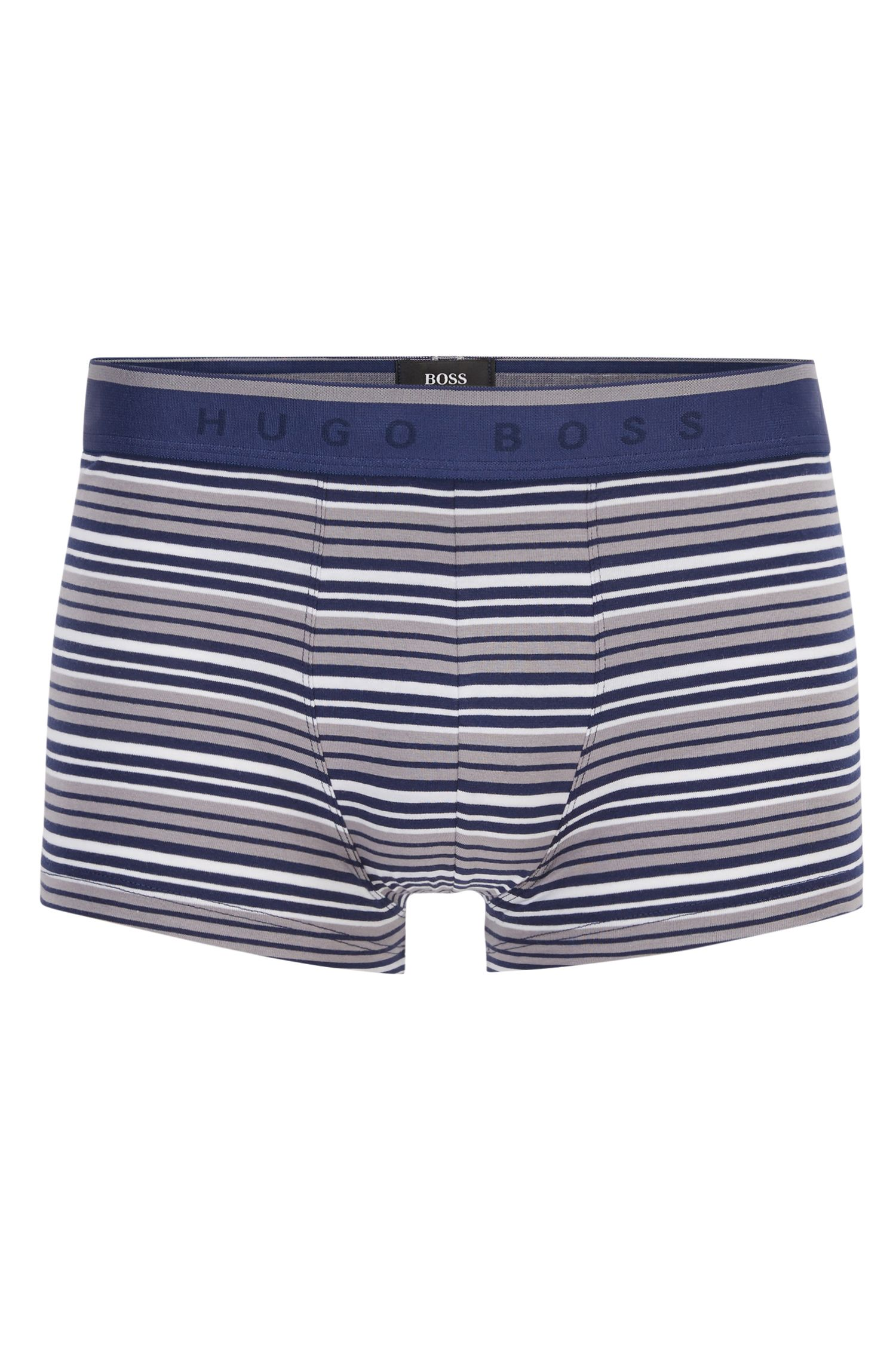 Boxer long Regular Rise en jersey de coton stretch