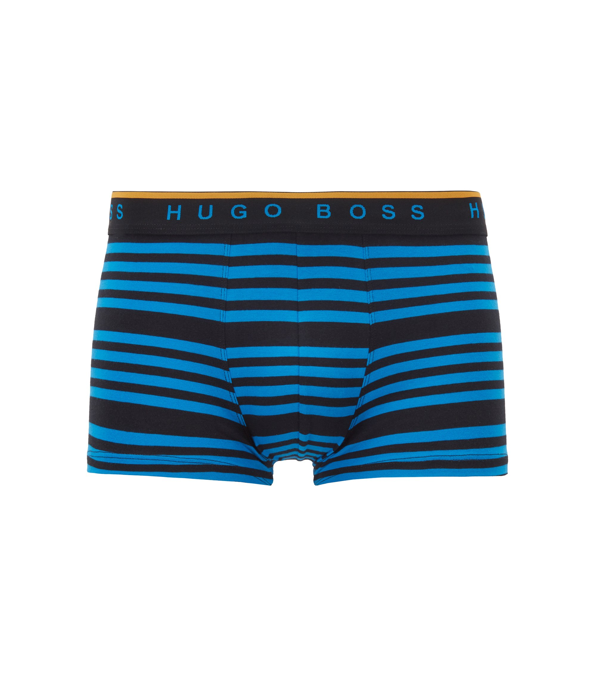 Boxer long Regular Rise en jersey de coton stretch, Bleu