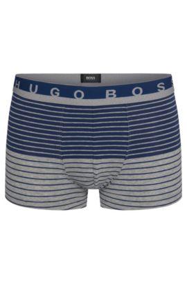 Boxer long Regular Rise en jersey de coton stretch, Bleu vif