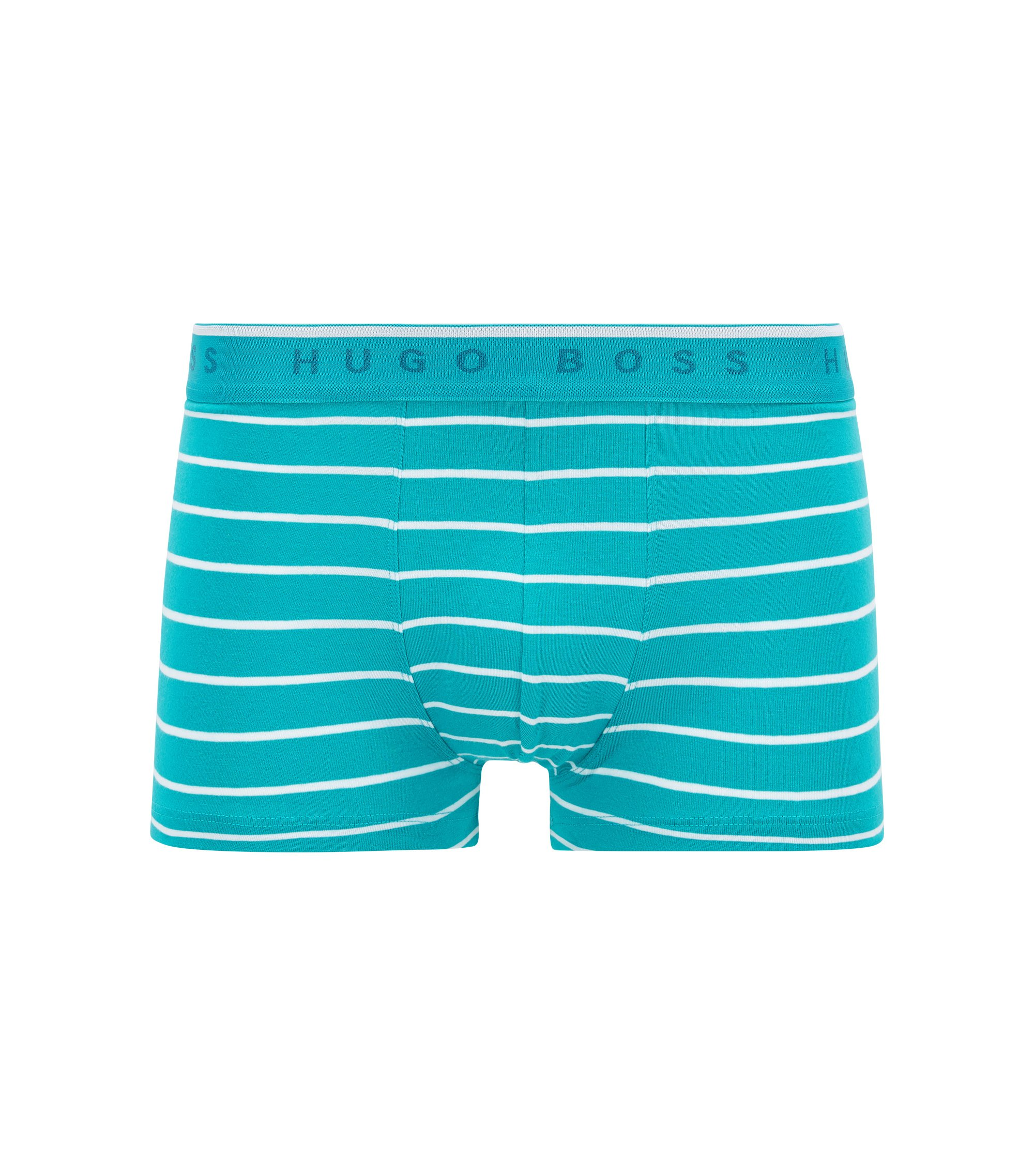 Boxer long Regular Rise en jersey de coton stretch, Bleu vif