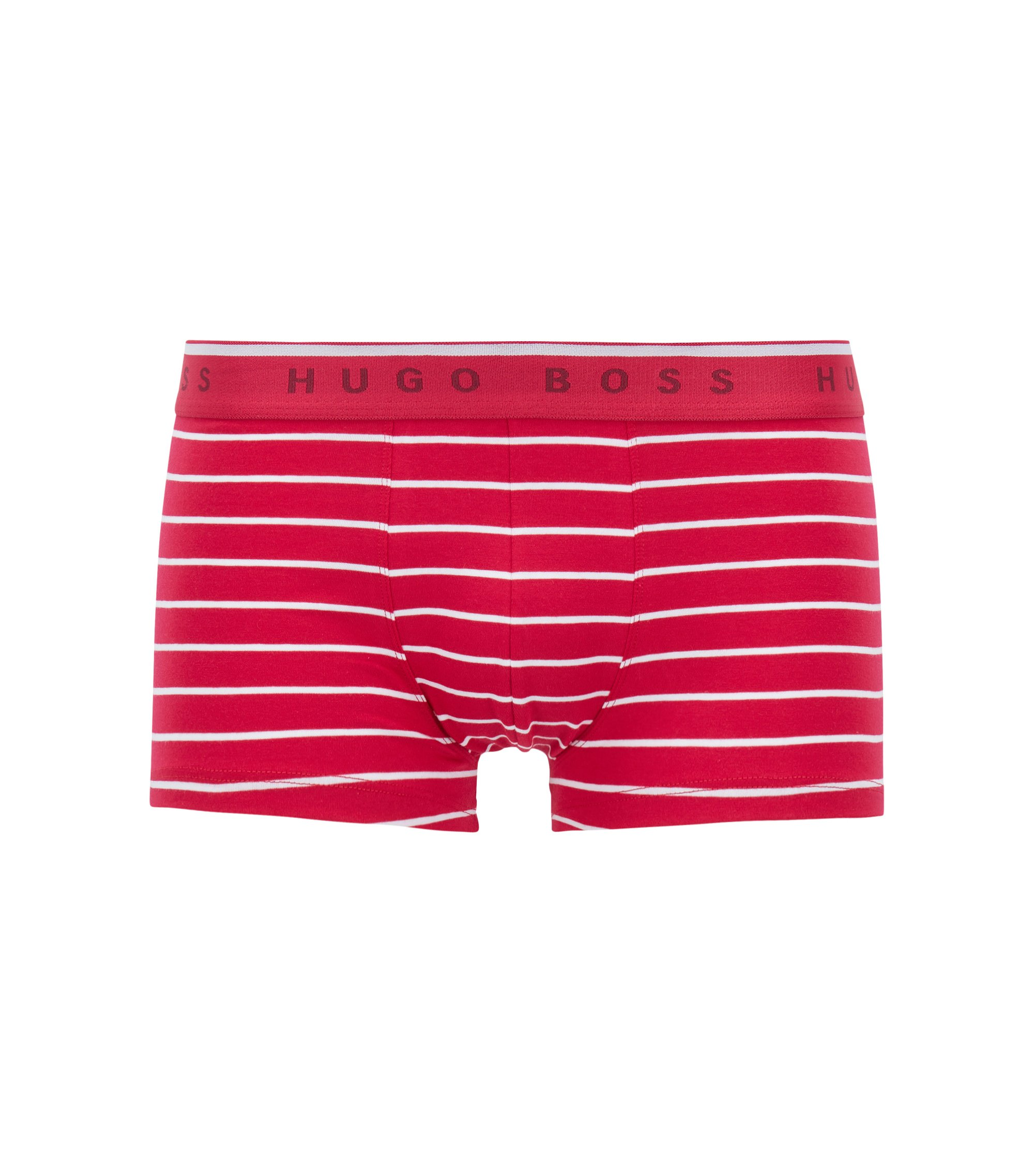 Boxer long Regular Rise en jersey de coton stretch, Rose foncé
