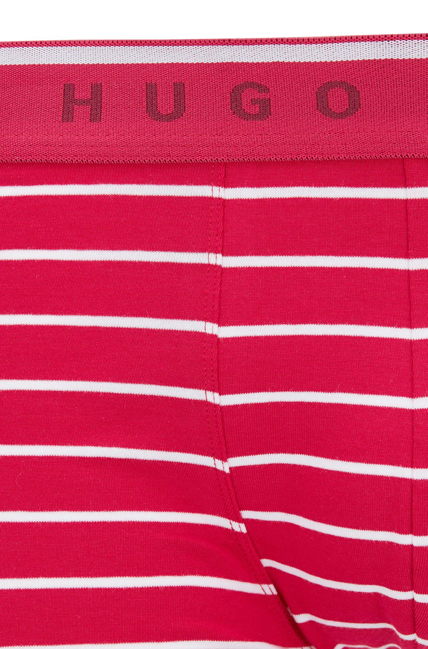 Boxershorts aus Stretch-Baumwolle mit mittlerer Bundhöhe, Dunkelrosa