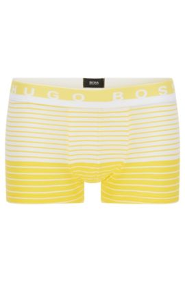 Boxer long Regular Rise en jersey de coton stretch, Jaune clair