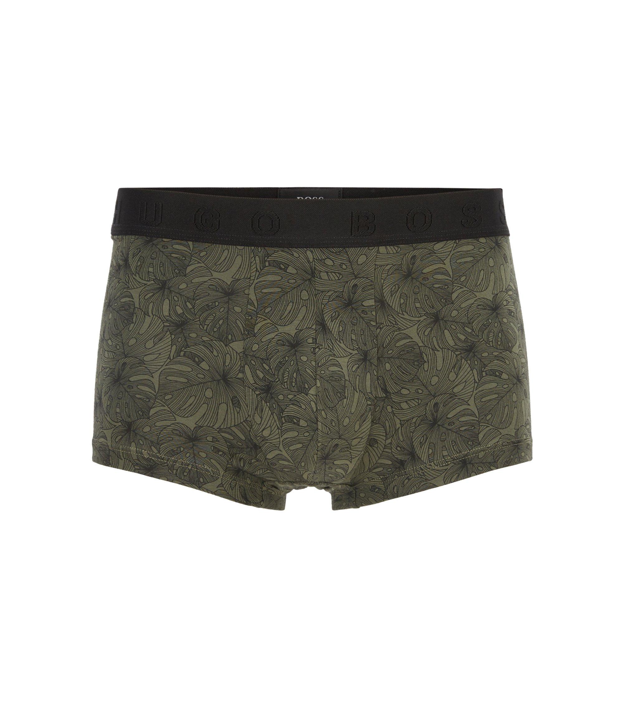 Körpernah geschnittene Boxershorts aus elastischem Baumwoll-Mix mit Modal, Grün